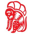 chinese astrology monkey vector image vector image