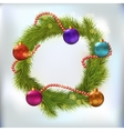 Christmas wreath decorated