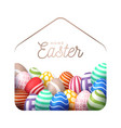 colorful happy home easter 2020 card with funny vector image
