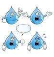 Crying water drop set vector image vector image