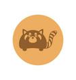 cute polecat circular icon vector image vector image