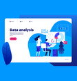 Data analysis digital interactive office business
