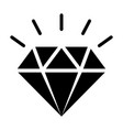diamond gemstone with sparkle icon vector image vector image