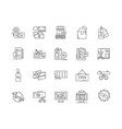 discount line icons signs set outline vector image vector image