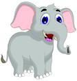 funny elephant cartoon posing vector image vector image