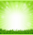 grass and bokeh nature poster vector image vector image