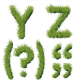 Green Grass Alphabet Y Z