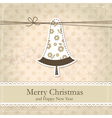 Grunge vintage Christmas background vector image vector image
