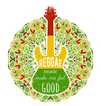 guitar on ornate mandala background vector image vector image