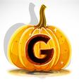 Halloween Pumpkin G vector image vector image