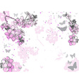 Hand Drawn Purple Floral Background vector image