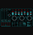hi-tech interface on dark background design vector image