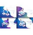 isometric virtual medical research vector image