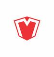 letter m negative space logo vector image vector image
