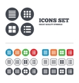 List menu icons Content view options vector image vector image