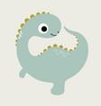 little dinosaur vector image