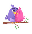 love bird couples male and female animals cute vector image vector image