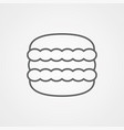 macaron icon sign symbol vector image
