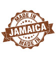 made in jamaica round seal vector image vector image