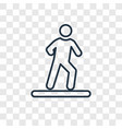 man walking to right concept linear icon isolated vector image