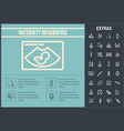 maternity infographic template elements and icons vector image vector image