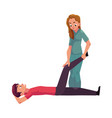 medical rehabilitation movement therapy vector image vector image