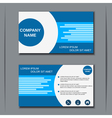 Modern business visiting card design vector image vector image