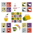 Modern flat icons collection shadow Dessert vector image vector image