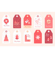 new year stickers for gifts and clothes christmas vector image vector image