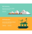 Oil Offshore Platform and salt production vector image