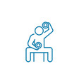 physical exertion linear icon concept physical vector image