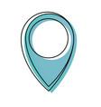 pin location symbol vector image vector image