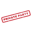 Private Party Rubber Stamp vector image vector image