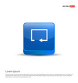 refresh icon - 3d blue button vector image