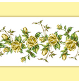 rose pattern on white horizontal vector image vector image