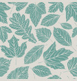 seamless background decorative leaves pattern vector image vector image