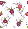seamless pattern with flower romantic elements vector image vector image