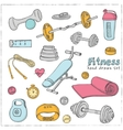 Set of Fitness bodybuilding diet and health care vector image vector image