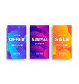 set sale banners with fluid gradient shapes vector image