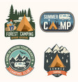 set summer camp badges concept vector image