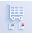 Shop basket paper icon vector image