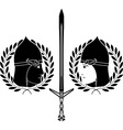 slavonic warrior stencil vector image