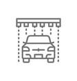 soap rain in portal carwash line icon vector image vector image