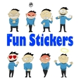 Social networks sticker vector image