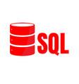 sql database icon logo design ui or ux app vector image vector image