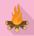 star camp fire icon flat style vector image
