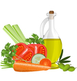 Still life with olive oil vector image