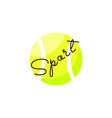 tennis ball isolated vector image