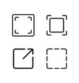 thin line crop resize frame icon vector image vector image