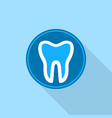 tooth in round circle logo icon flat style vector image vector image